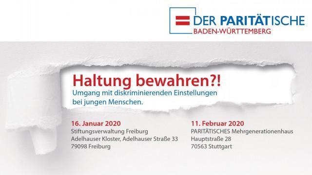 """Fachveranstaltung: """"Haltung bewahren?!"""" in Stuttgart und Freiburg"""