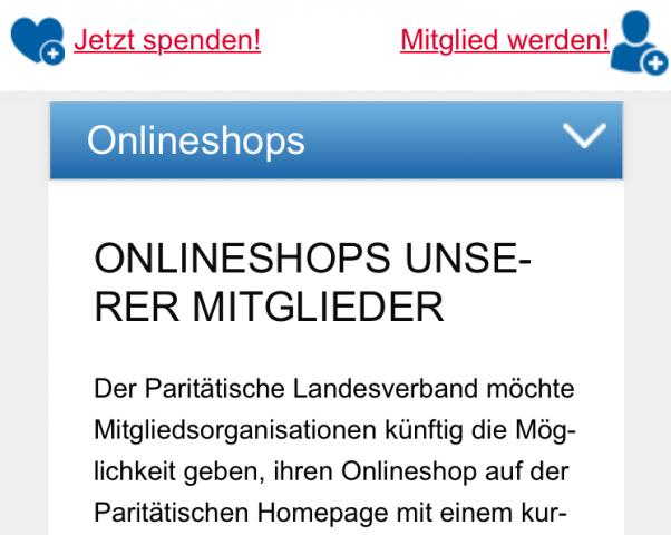 Paritätischer Landesverband stellt Medienplattform für Online-Shops der Mitglieder