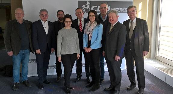 Netzwerk Straffälligenhilfe zu Gast bei der CDU-Landtagsfraktion