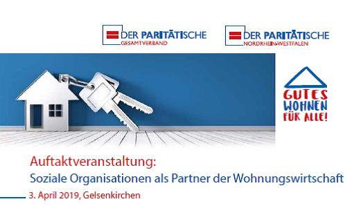 """Auftaktveranstaltung: """"Soziale Organisationen als Partner der Wohnungswirtschaft"""" am 3. April 2019 in Gelsenkirchen"""