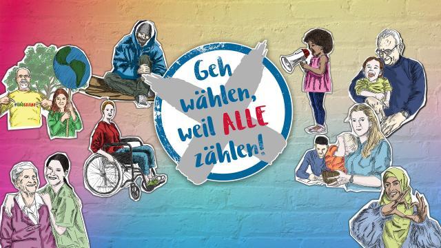 Kampagne: Geh wählen, weil ALLE zählen!